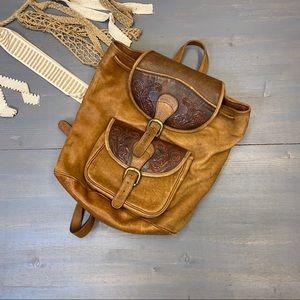 Maccana Leather Backpack